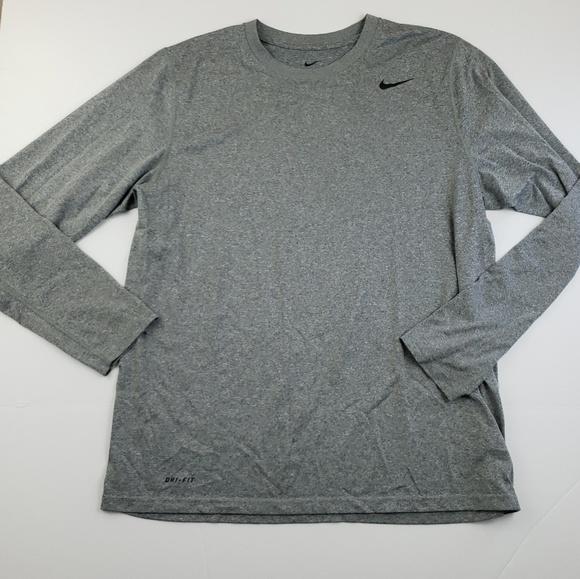 Nike Other - Nike Mens Heathered Gray Long Sleeve Logo Top Larg